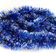 Foto Stock: Blue tinsel