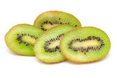 Fresh piece kiwi fruit isolated on white background — Stock Photo