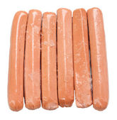 Sausage with ice — Stock Photo