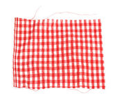 Piece of red plaid fabric — Stock Photo