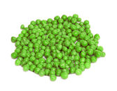 Green peas isolated on a white background — Stock Photo