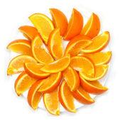 Bit of the orange decomposable beautifully around — Stock Photo