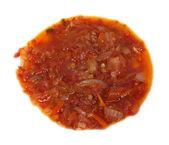 Zupa z warzyw na białym tle — Zdjęcie stockowe