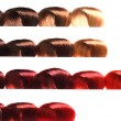 Stock Photo: Hair samples of different colors