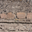 Bricks filled in concrete — Foto de Stock