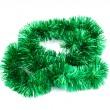 Green Christmas tinsel garland — Foto Stock #11929202