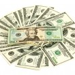 Stock Photo: Heap of dollars, money background
