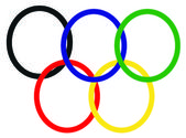Olympic rings — Foto de Stock
