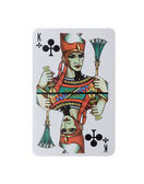 King of clubs from deck of playing cards, rest of deck available — Stock Photo