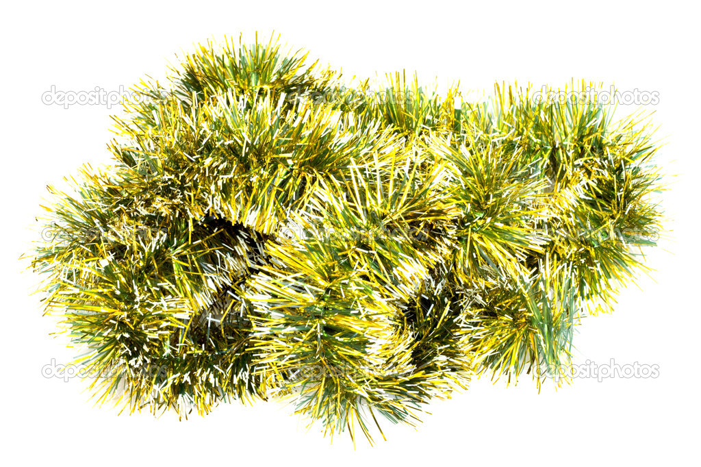 Isolated  Tinsel Christmas Decoration — Stock Photo #11929201