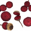 Collection of fresh beets on a white background - Lizenzfreies Foto
