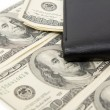 Stock Photo: Dollars and pocketbook