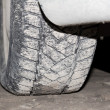 Dirty car wheel — Stock Photo