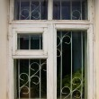 Old white wooden window — Stock Photo