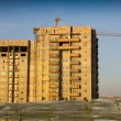 Stock Photo: Not completed houses in Kazakhstan. Shymkent