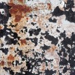 Stock Photo: Rusty metal grunge background. Rusted steel tin abstract pattern