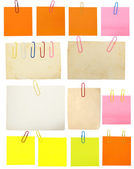 Set of vintage paper notes isolated on white background — Stock Photo