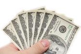 Dolarów na rękę — Zdjęcie stockowe