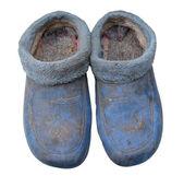 在白色背景上的脏鞋 — 图库照片