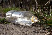 Plastic bottle on the nature — Stock Photo