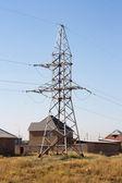 Post power elektrický vysokého napětí — Stock fotografie