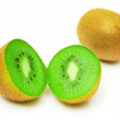 Kiwi on a white background - Stock Photo