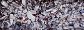 Uhlí a dřevo popel ze spalování v sušárně — Stock fotografie