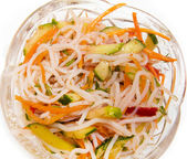 Rice noodle salad — Stock Photo