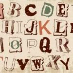 Alphabet — Stock Vector