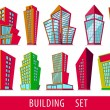 Cartoon buildings - Stock Vector
