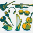 Music instruments — Stock Vector #11109789