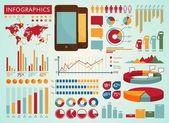 Gráficos retro información — Vector de stock