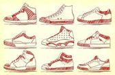 Retro Shoes — Stock Vector