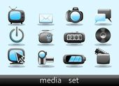 Media Elements — Stock Vector