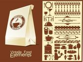 Food and drink vector elements — Stock Vector