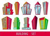 Cartoon buildings — Stock Vector