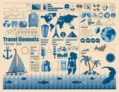 Elementos de férias — Vetorial Stock