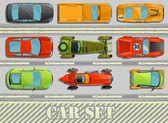 Vector car set — Stock Vector