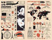 Viaggi, turismo, grafica di informazioni — Vettoriale Stock