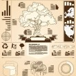 Tree info graphics — Stock Vector