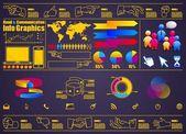 Hand info graphics — Stockvector