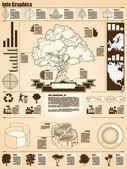 Gráficos de informação de árvore — Vetorial Stock