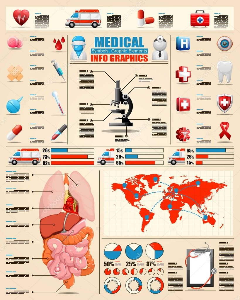 Medical info graphics,vector elements, health care icons  Stock Vector #11814232