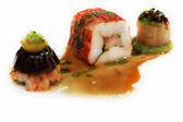 Muito boa comida servindo em branco — Foto Stock