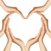 Mãos fazem formato de coração — Foto Stock