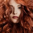 Beautiful redhair woman close-up portrait — Stock Photo #12143547