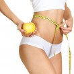 Woman measuring her waistline. Perfect Slim Body. Diet — Stock Photo #12194863
