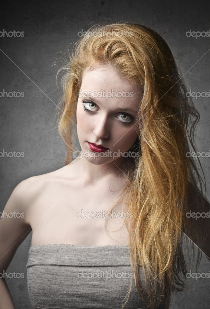 Beautiful elegant pale young woman  Stock Photo #10761467