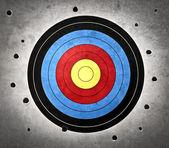 Ziel mit löchern rundum — Stockfoto