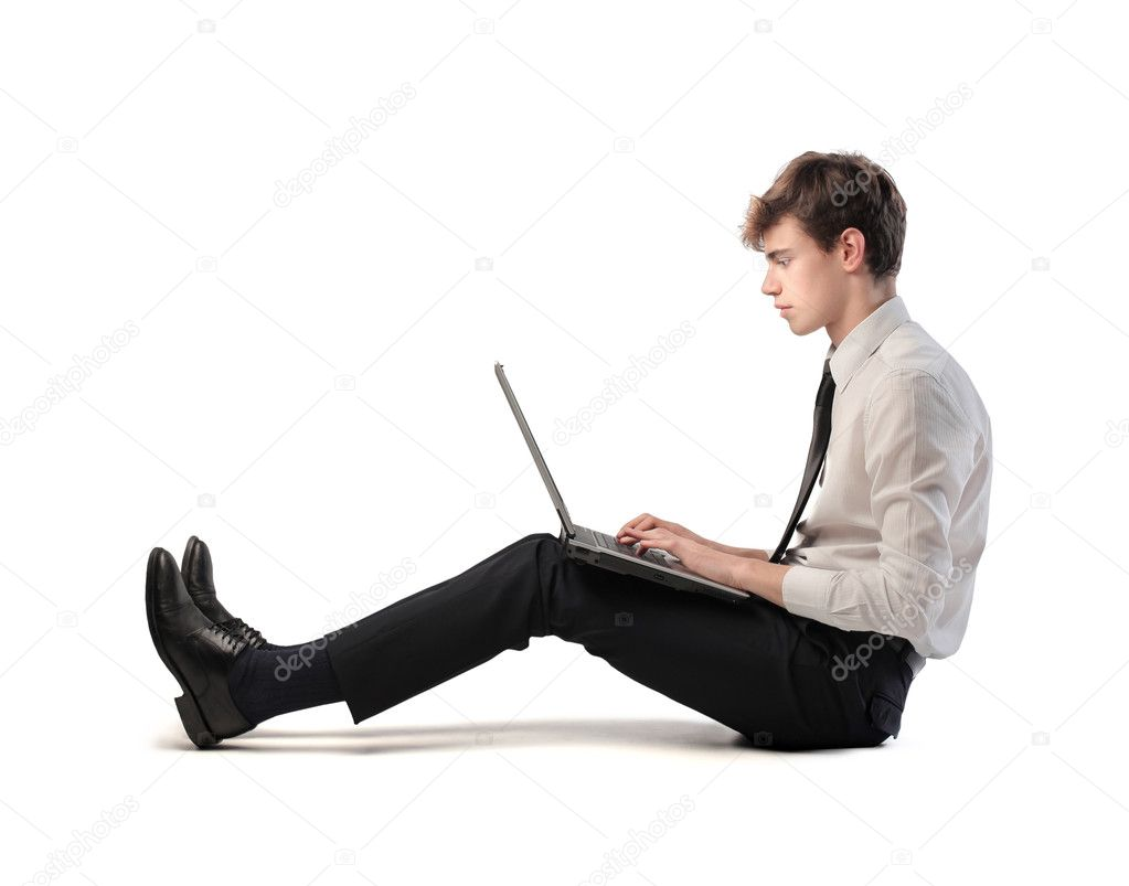 A businessman is working on his laptop computer. — Stock Photo #11119063